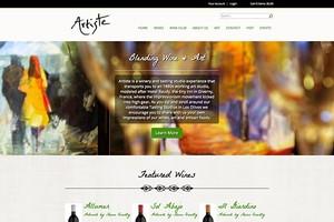 Vin65 Portfolio - Artiste Winery (Template)