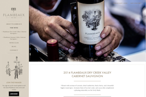 Vin65 Portfolio - Flambeaux Wine