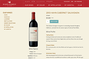 Vin65 Portfolio - Hahn Family Wines