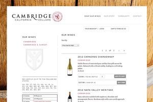 Vin65 Portfolio - Cambridge California Cellars